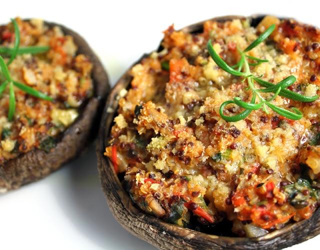 Filled Portobello mushroom - Portobello Fylt Portobellosopp