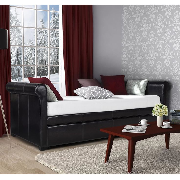 DHP Giada Upholstered Trundle/ Daybed   Overstock™ Shopping   Great Deals  On DHP Beds