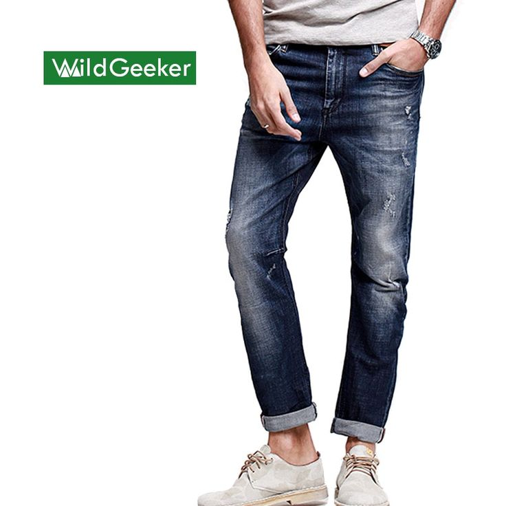 (30.00$)  Watch here  - Wildgeeker Men's Jeans 98% Cotton Mid Straight Thin Models Masculina Pantalones Vaqueros Hombre Jeans Classic New Denim Jeans