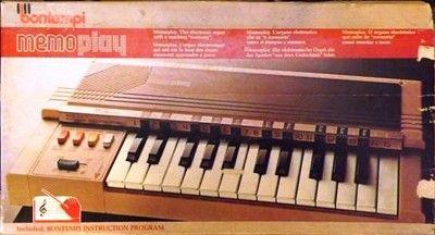 clavier orgue bontempi memoplay dans sa bo te cartonn e ann es 70