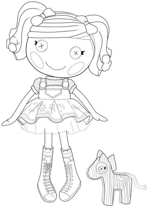 lalaloopsy coloring page - Lalaloopsy Coloring Pages