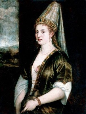 Copy of a Titian titled: Sultana.  Sarasota John and Mable Ringling Museum of Art.