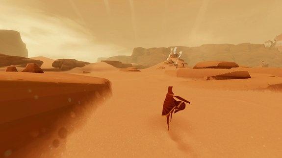 Journey screenshot, the desert