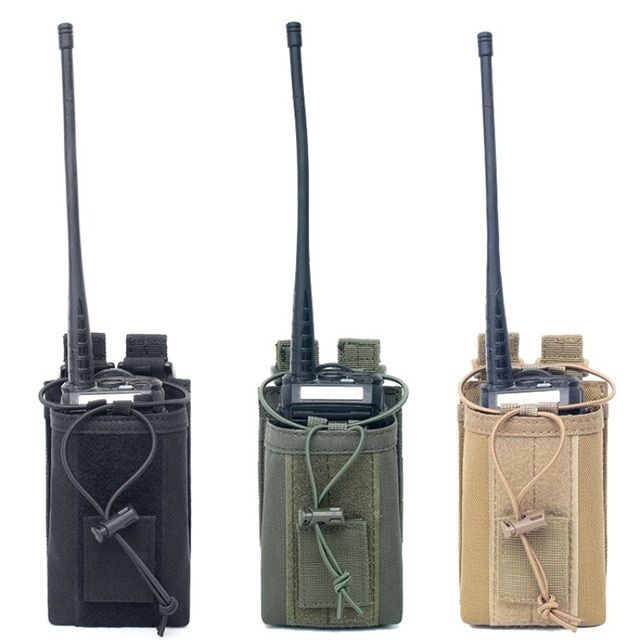 Molle Walkie Talkie Holder Radio Case Outdoor Hunting Magazine Pouch Pocket Bag