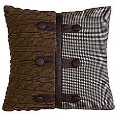 image of Lamington Aspen Square Throw Pillow in Brown