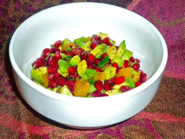 Winter Pomegranate-Avocado Salsa | yummy yummys | Pinterest