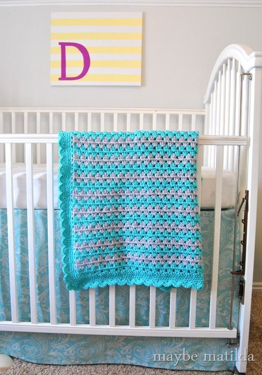3 part beginner-friendly tutorial to crochet this adorable granny stripe baby blanket