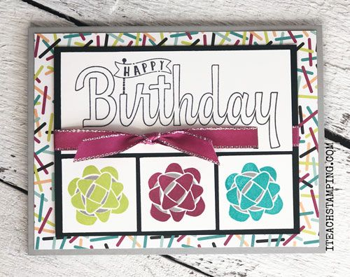 Stampin' Up! Cards | Cardmaking Ideas | Handmade Greeting Cards | Paper Crafts | Birthday Cards | Papercrafting Tips | Card Making Techniques | Stampin Up Picture Perfect Birthday | Stamping with Different Colors