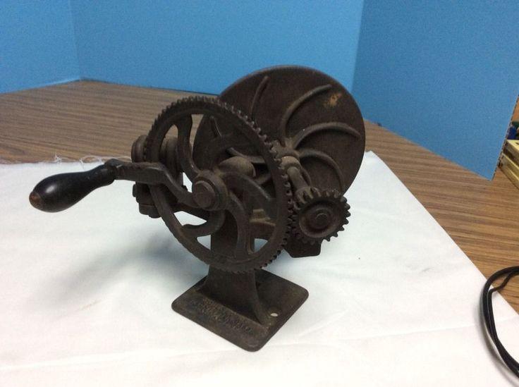 Antique Gould & Cook Hand Cranked Pencil Sharpener Patent 1886   eBay