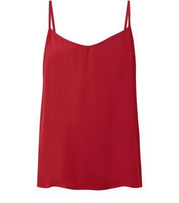 Dark Red V Neck Cami (new look)