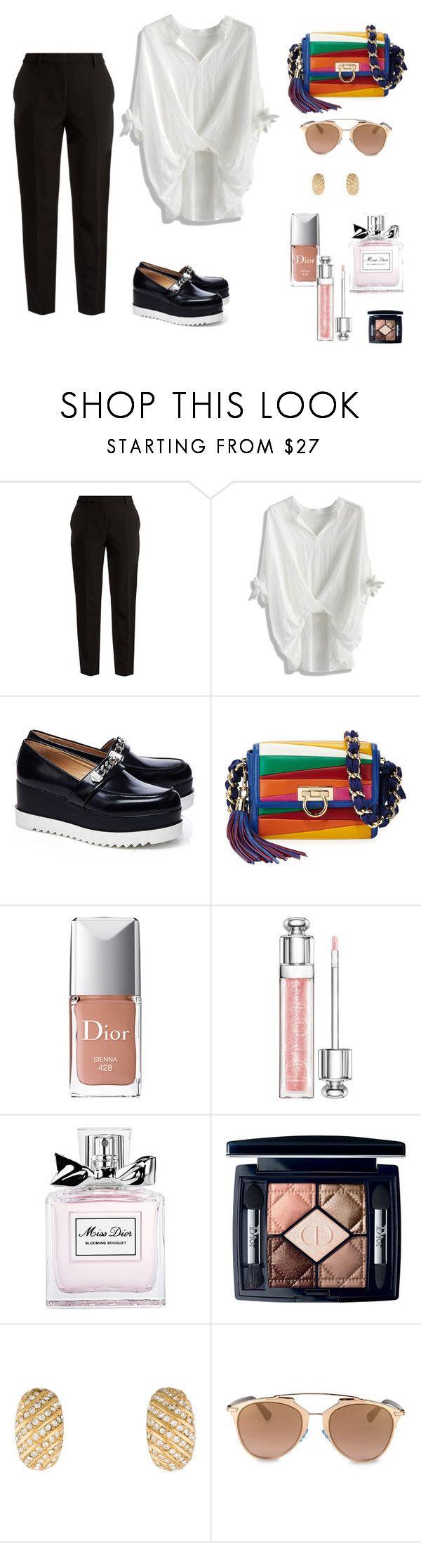 """""""Dior diorissimo"""" by janka-dzurillova on Polyvore featuring MSGM, Chicwish, Karl Lagerfeld, Salvatore Ferragamo and Christian Dior"""
