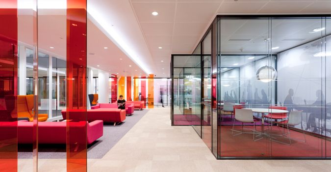 Chartis Insurance Panels Of Coloured Glass And Perspex