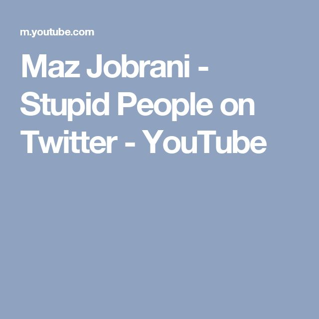 Maz Jobrani - Stupid People on Twitter - YouTube