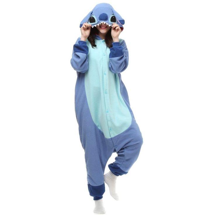 Amazon.com: Es Unico Blue Stitch Costume Animal Onesie Kigurumi Pajama For Adult and Teens: Clothing | @giftryapp