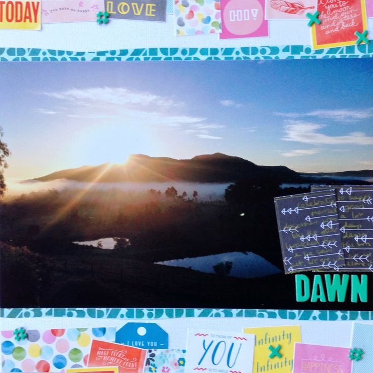 """""""Dawn"""" by Ruth Bonser, using Polly! Scrap Kits March 2014 Spearmint Leaves scrapbooking kit"""