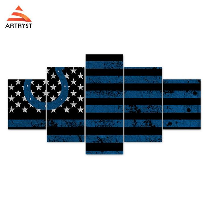 Indianapolis Colts American Flag Football Canvas