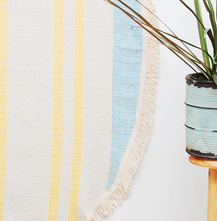 Bright and Cheery Round Turkish Towel - Perfect Summer Beach and Travel Towel - Join the Roundie Revolution! Get yours and be summer ready at www.wovenbywander.com