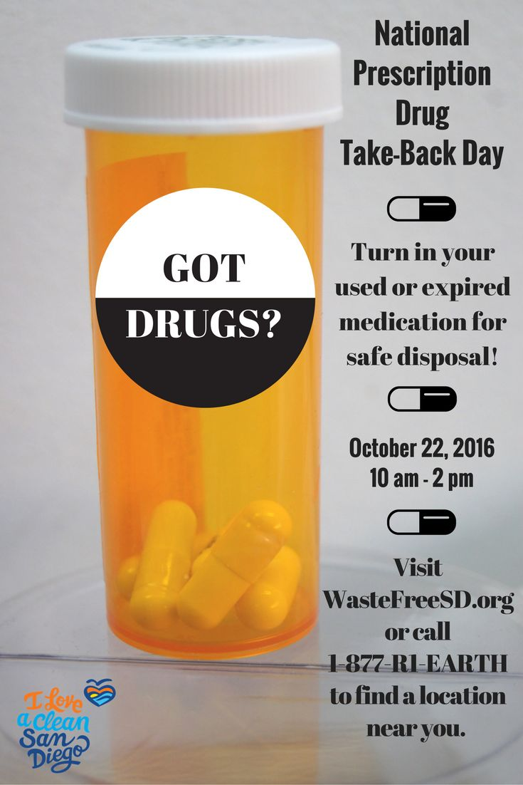 Save the date: The National Prescription Drug Take-Back Day initiative is in two weeks! All over San Diego County safe and convenient drop-off bins will be available for residents to drop off un-wanted or expired prescription drugs. This day aims to raise awareness about the potential abuse of medications when not disposed of properly. Find a collection site closest to your zip code by searching www.WasteFreeSD.org and choosing the category 'Medications'.