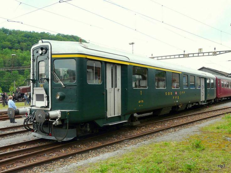 SBB - Steuerwagen ABt 1715 am Depotfest im Depotareal in Olten am 08.05.2010