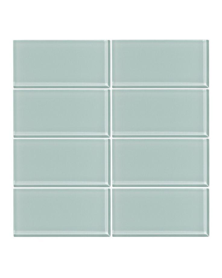 Seafoam 3x6 Glass Subway Tile