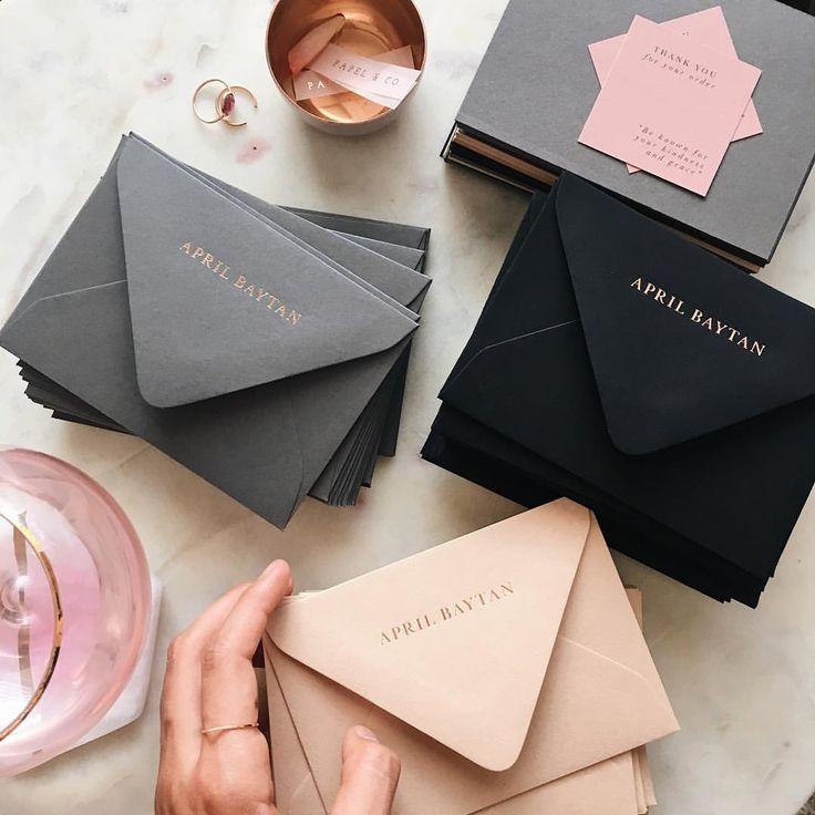 "4,275 Likes, 35 Comments - Nat Otálora   Papel & Co. (@papelnco) on Instagram: ""These elegant custom envelopes for @aprilbaytan stole my heart ❤️"""