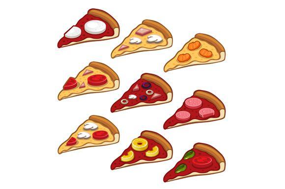 Pizza icon set @creativework247