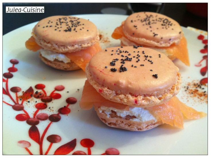 Macarons saumon fromage frais