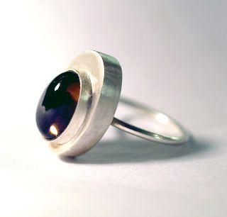 Rhiannon Higgins. 2013, Silver and smokey quartz ring. Part of the 'Off Centre' series.