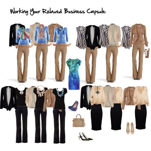 creaTing womens wardrobes mix and match | working your relaxed business capule by imogenl featuring a long chain ...