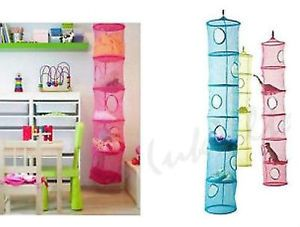 New Ikea Ps Fangst Green 6 Compartment Storage Hanging Net Toy Organiser