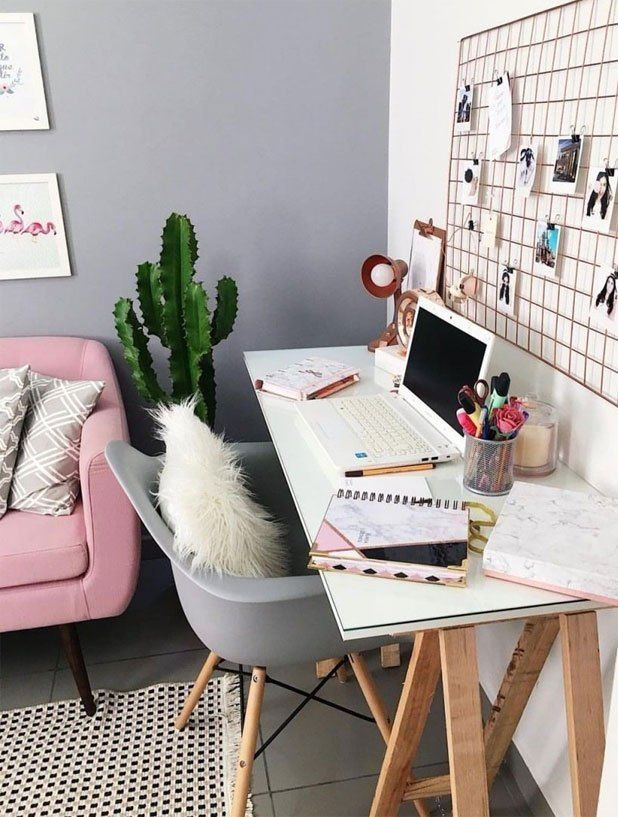 70 Beautiful Inviting Home Office Decor Ideas That Make You Want To Work Homedecor Ho Study Room Decor Grey Furniture Living Room Home Office Design
