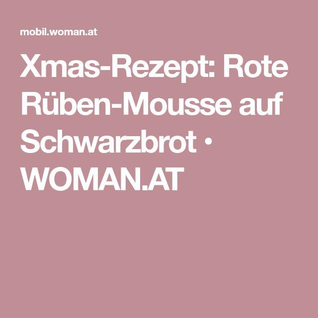 Xmas-Rezept: Rote Rüben-Mousse auf Schwarzbrot • WOMAN.AT