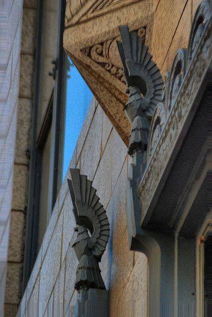 Art Deco. Building Details in Downtown Tulsa, Oklahoma, USA | #ArtDeco