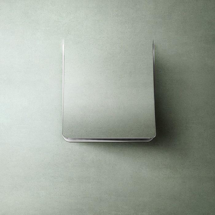 Campana extractora camuflable en la pared