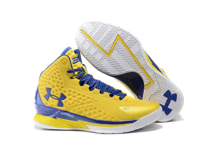 Men\u0027s Under Armour Stephen Curry One Yellow Blue Basketball Shoes | Basket  curry | Pinterest | Stephen curry, Curry and Armours