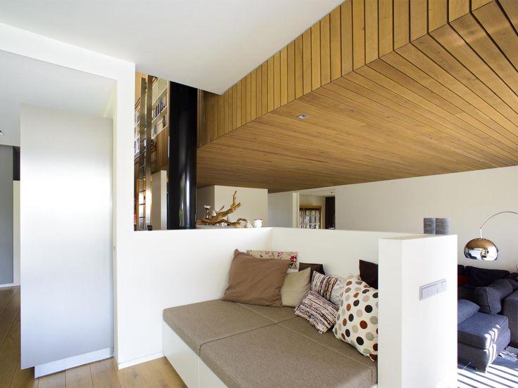 houten plafond, modern interieur