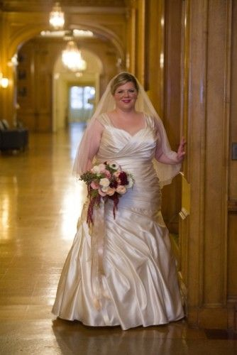 Unique  Plus Size Real Wedding Champagne and Blue Wedding at University of Illinois Mark