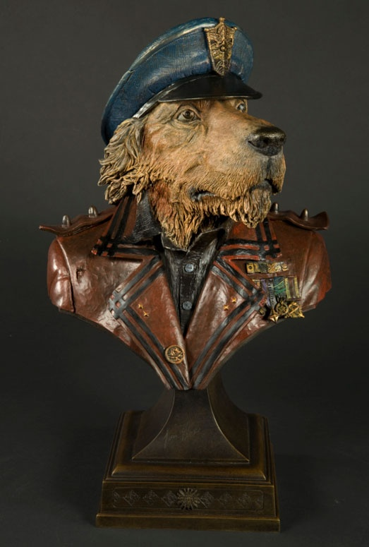 The Baron (bronze) Lonely dog collection. Ivan Clarke