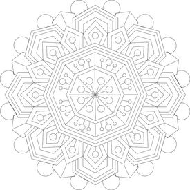 """Coloring is a type of meditation. Most people think of meditation as clearing the mind completely, but coloring is a """"grounding"""" meditation. When you practice grounding it means you're focusing on something specific and letting the other noise in your mind drift away.  We have version on the blog that [has been colored](/b/calming-thoughts) if you want some inspiration."""