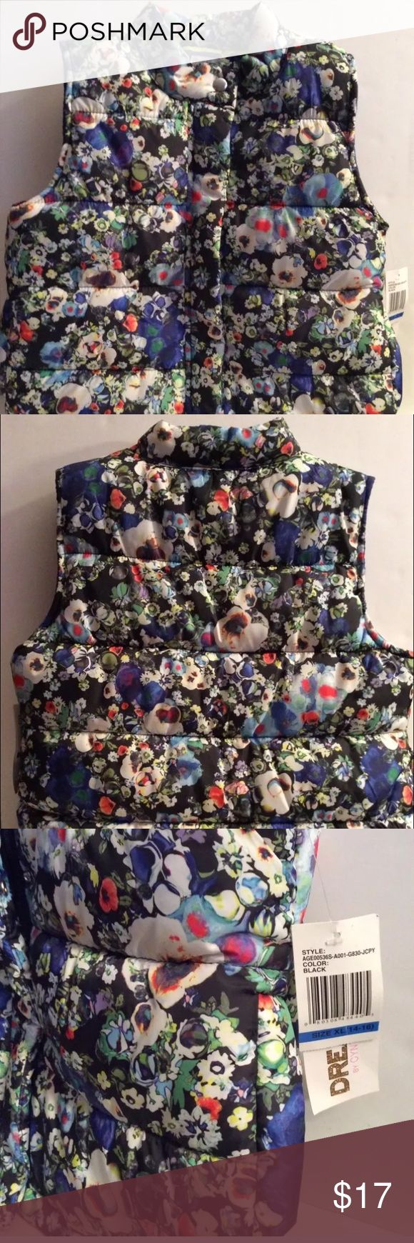 Dream by Cynthia Rowley multi colored vest NWT Awesome floral print - puffy vest with tags Cynthia Rowley Jackets & Coats Vests