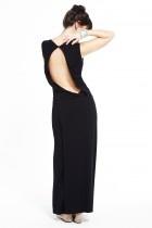 En Sainte  Robe de soirée grossesse noir dos nu Coquette / Black maternity evening dress with open back Coquette