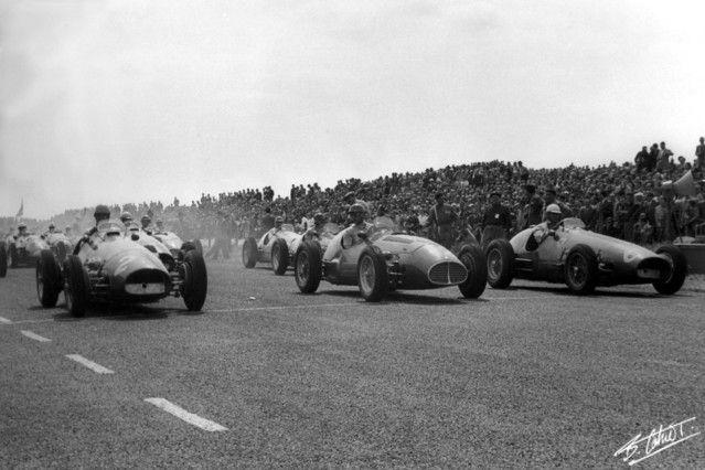 #2 Alberto Ascari (I) - Ferrari 500 (Ferrari 4) 1 (1) Scuderia Ferrari #6 Giuseppe Farina (I) - Ferrari 500 (Ferrari 4) 2 (3) Scuderia Ferrari #12 Juan Manuel Fangio (RA) - Maserati A6GCM (Maserati 6) rear axle (2) Officine Alfieri Maserati