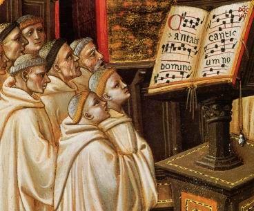 Resultado de imagen de monjes rezando edad media