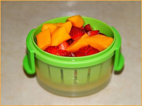 Mango Strawberry Yogurt, Baby food. Simple fruit puree with yogurt. So delicious and your baby will like this. Enjoy.