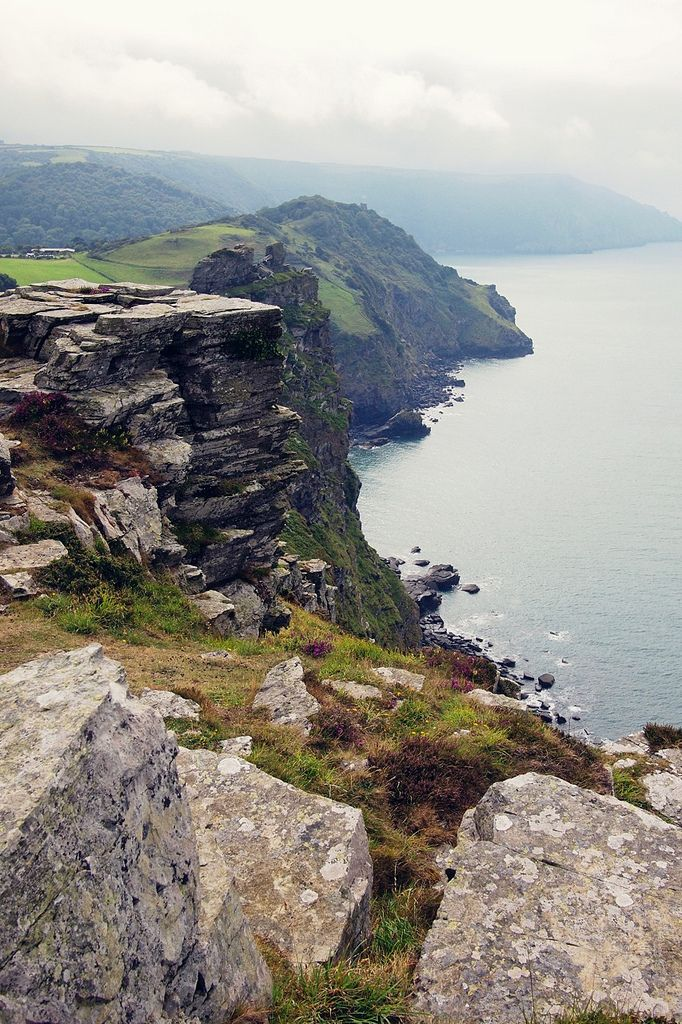 The Valley of the Rocks, Devon, England...the green land you see belongs to Lee Abbey, a wonderous place.
