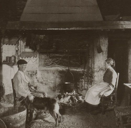 The Irish Peasant at Home  ~  Houses and villages, Ireland