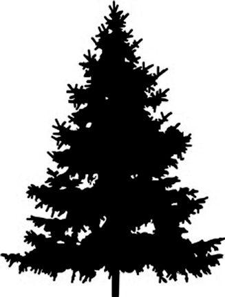 Kerstboom Silhouet Kerst En Creatief