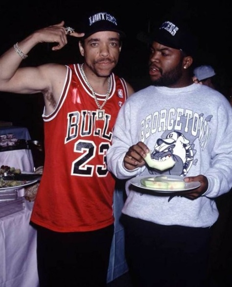 Ice T & Ice Cube.....Before the acting careers...word.