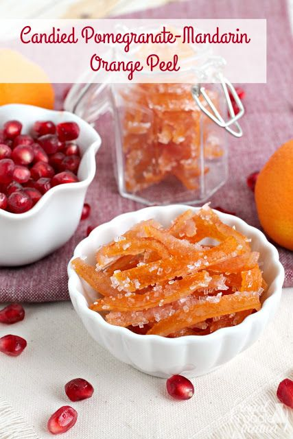 Combining the sweetness of fresh citrus with just a hint of tart pomegranate, this Candied Pomegranate-Mandarin Orange Peel is a must-make for the holiday season.