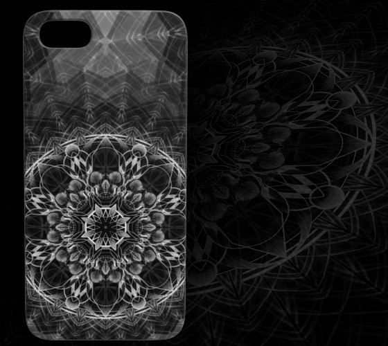 Skull Mandala Device Case by StudioPhiDesign on Etsy